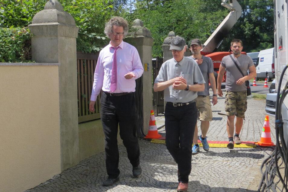 """Drehort Holteistraße: Regisseur Florian Henckel von Donnersmarck drehte 2016 in Görlitz """"Werk ohne Autor""""."""