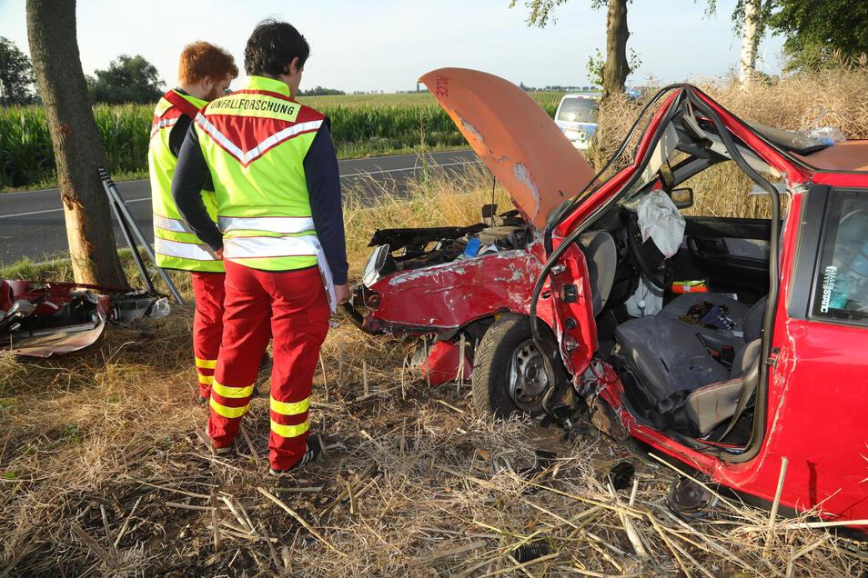 Schwerer Unfall zwischen Krögis und Soppen an der B101