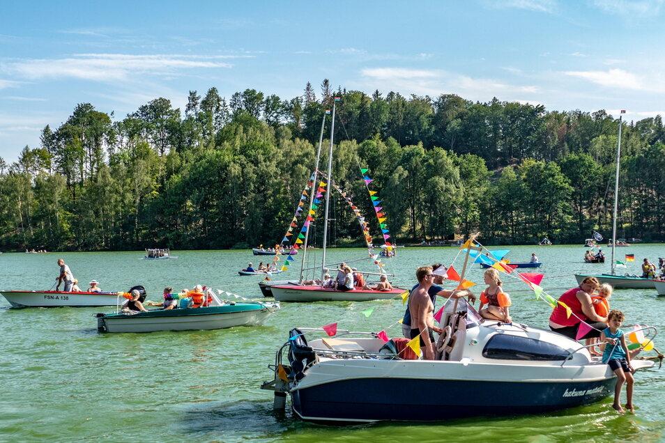 Die traditionelle Bootsparade auf der Kriebsteintalsperre gehört zum Talsperrenfest dazu. Beides wird es in diesem Jahr nicht geben.
