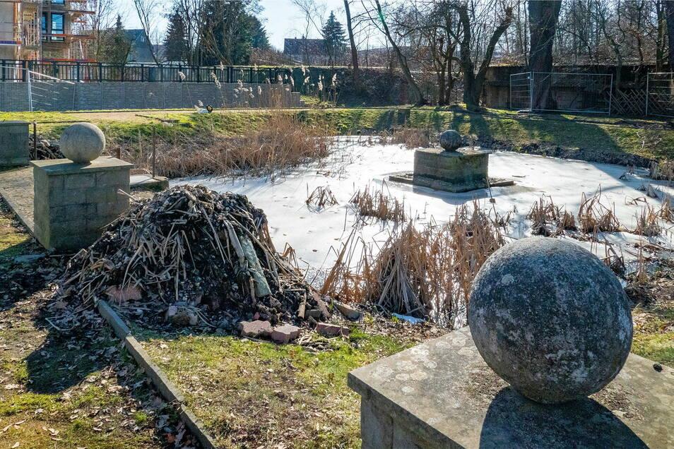 In den kommenden Wochen soll der Teich wieder auf Vordermann gebracht werden.