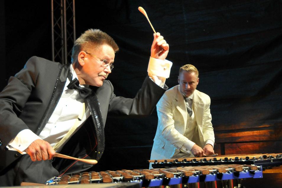 Bernd Warkus wurde auch als Hexer am Xylofon bezeichnet. Er war so schnell mit den Schlägeln, dass die Augen seine Bewegungen kaum mehr erfassen konnten.