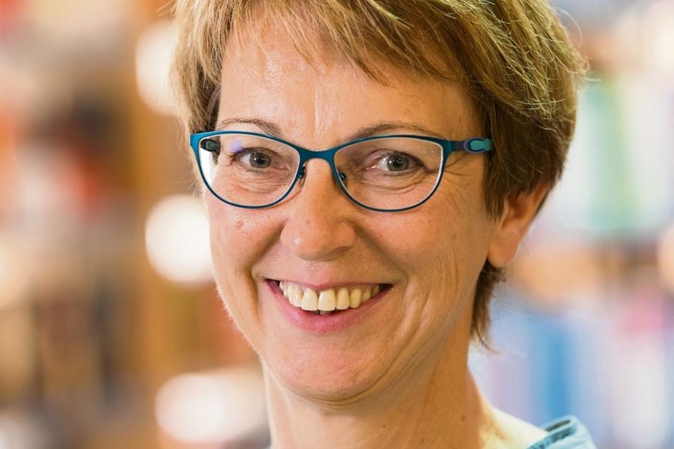 Heike Lehmann leitet die Stadtbibliothek Hoyerswerda.