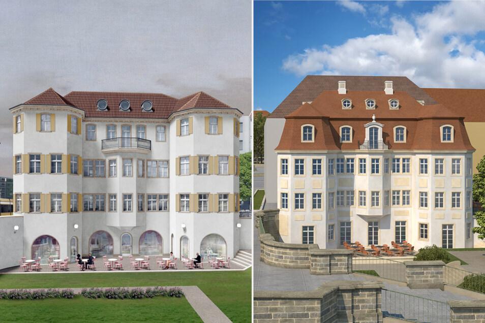 Zwei von drei Narrenhäusel-Entwürfen kamen in die engere Wahl: Der von Martin Trux (rechts) aus Dresden und der von Pontus Falk aus Berlin.