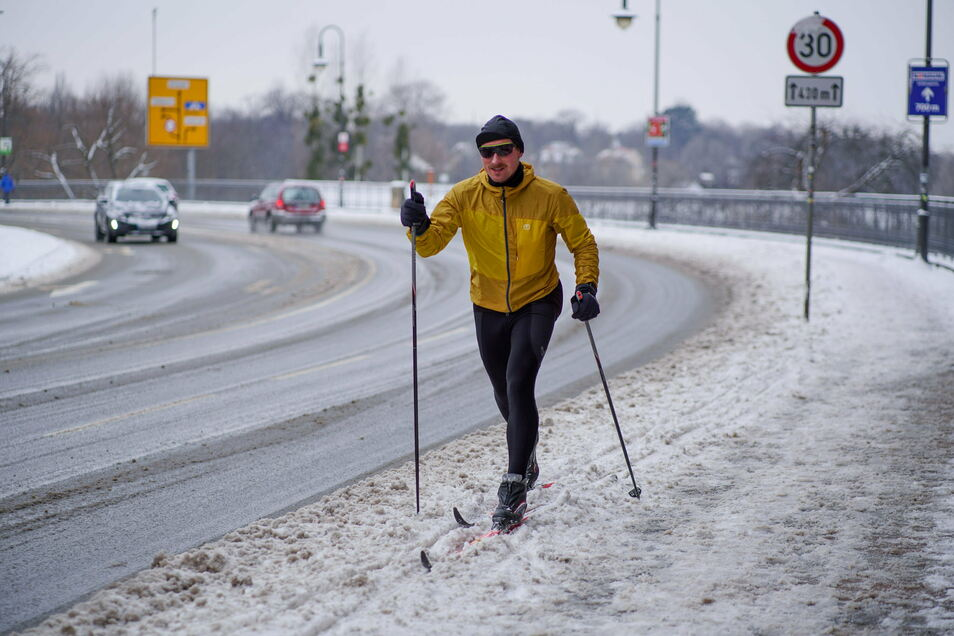 In Dresden kann bis auf Weiteres wieder Ski gefahren werden.
