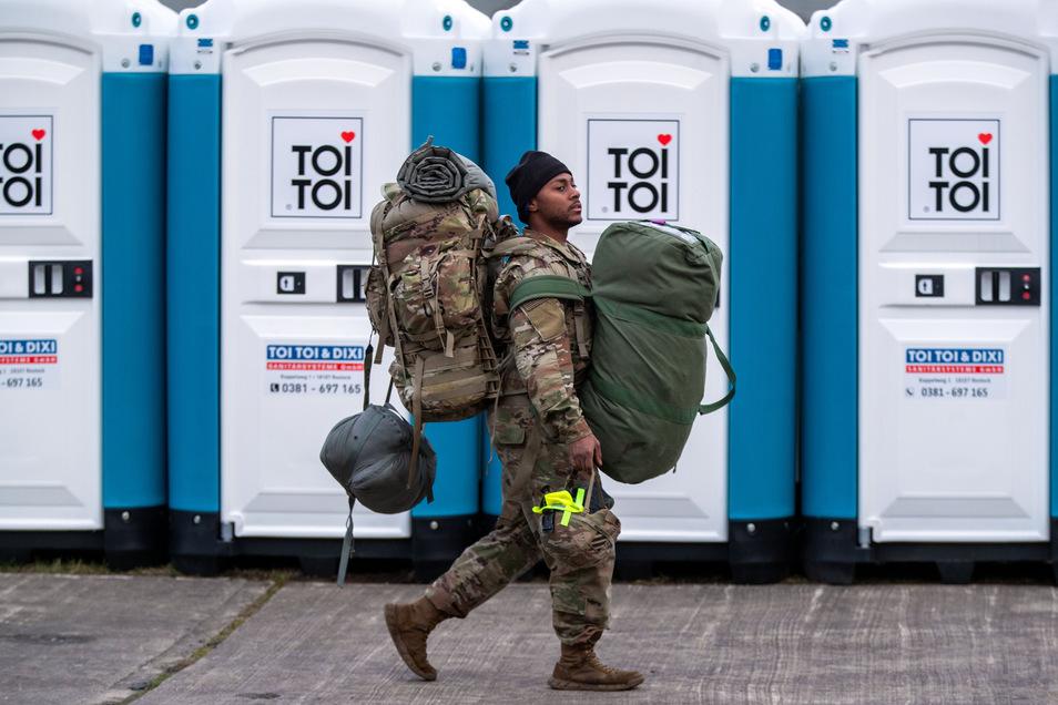 3.000 amerikanische Soldaten sollten sich mit rund 1.500 Fahrzeugen durch Sachsen bewegen. Nun werden sie nach und nach wieder nach Hause geschickt.