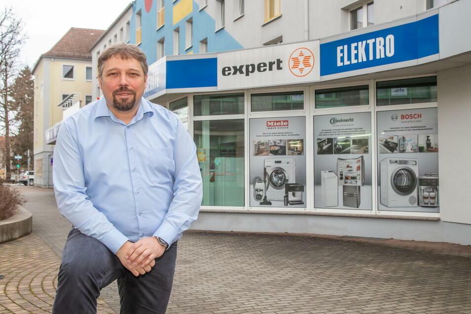Roland Mitschke ist Geschäftsführer der expert Oberlausitz GmbH in Niesky und engagiert sich beim Händlerstammtisch.
