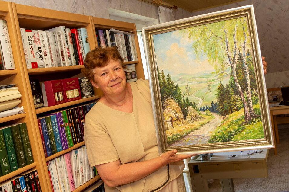 Renate Eckert aus Goppeln bei Bannewitz ist auf der Suche nach dem Titel und dem Künstler des Werkes, das sie geerbt hat.