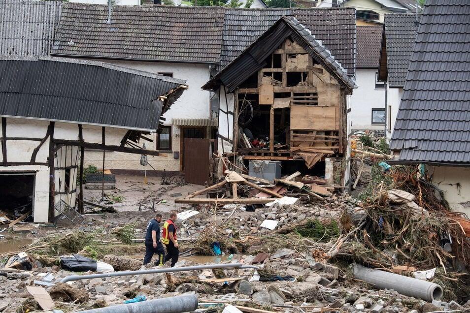 Das Dorf Schuld im Kreis Ahrweiler wurde durch die Flut weitgehend zerstört.