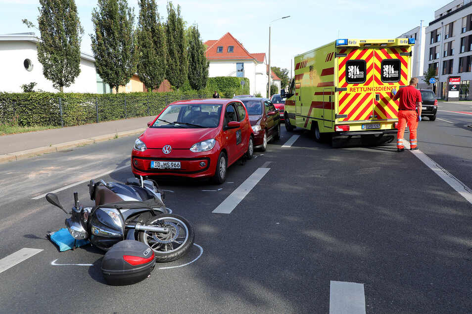 Dieser Auffahrunfall ereignete sich am Mittwochnachmittag auf der Teplitzer Straße.