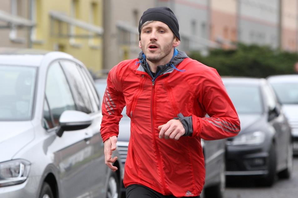 Lars Franke läuft selbst leidenschaftlich gern, aber nicht beim Heidenauer Citylauf, weil er der Organisator ist.