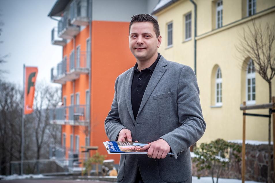 """Andreas Grün ist der neue Leiter des Seniorenzentrums """"Waldidyll"""". Das Haus in Paudritzsch bei Leisnig gehört zur Führer-Gruppe. Diese betreibt in Deutschland aktuell 42 Pflegeeinrichtungen."""