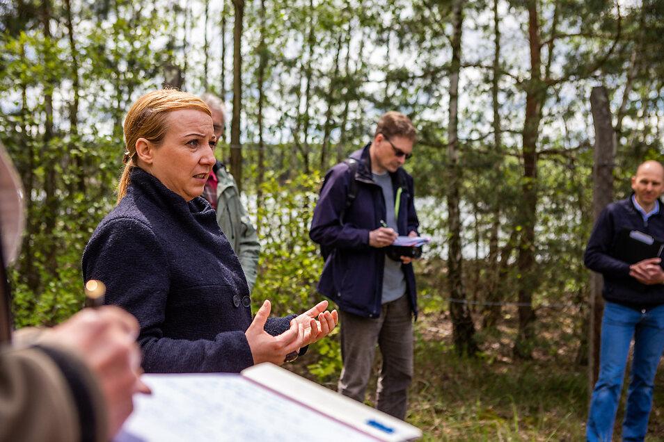 Susann Kolba, die Bautzener Kreisvorsitzende von Bündnis 90 / Die Grünen, hat konkrete Forderungen - vor allem eine bessere Information der Anrainer betreffend.