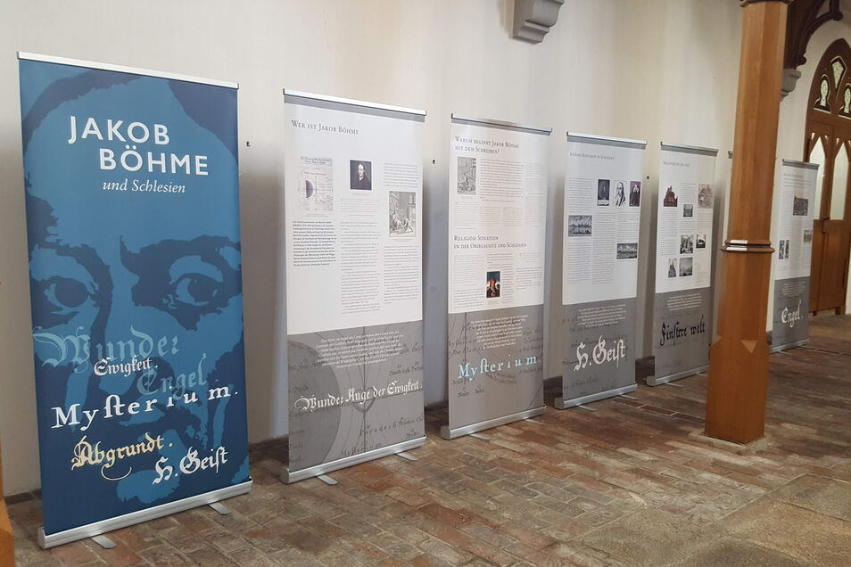 """""""Jakob Böhme und Schlesien"""", Ausstellung in der Görlitzer Frauenkirche im Rahmen des Festivals """"dreyfach leben""""."""