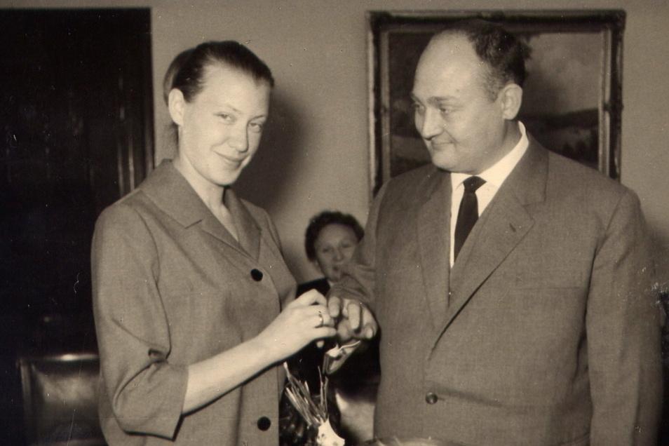 1963 heiratete Hoppe in Blasewitz seine Friederike.