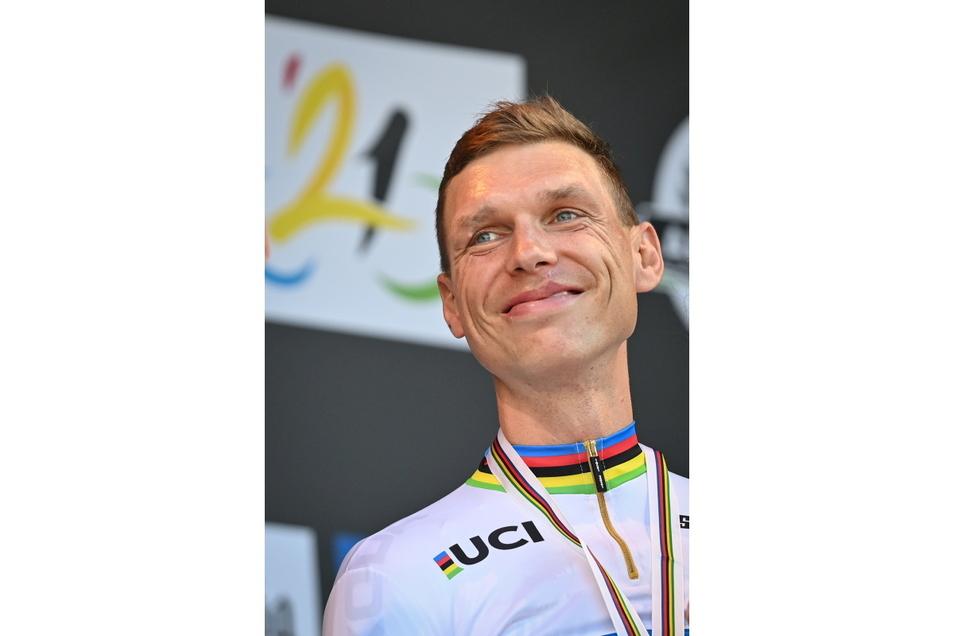 So sieht Glück aus: Radprofi Tony Martin nach seinem letzten Rennen.