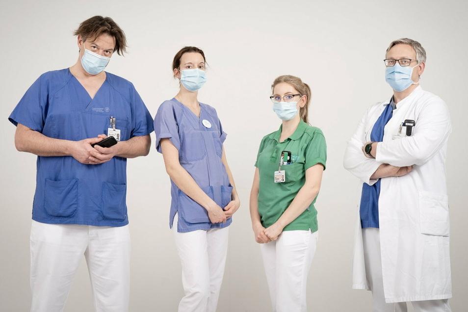 Im Dresdner Uniklinikum werden die schweren Corona-Fälle behandelt. Wir haben diese vier Menschen einen Tag lang begleitet, deren Job es ist, Leben zu retten.