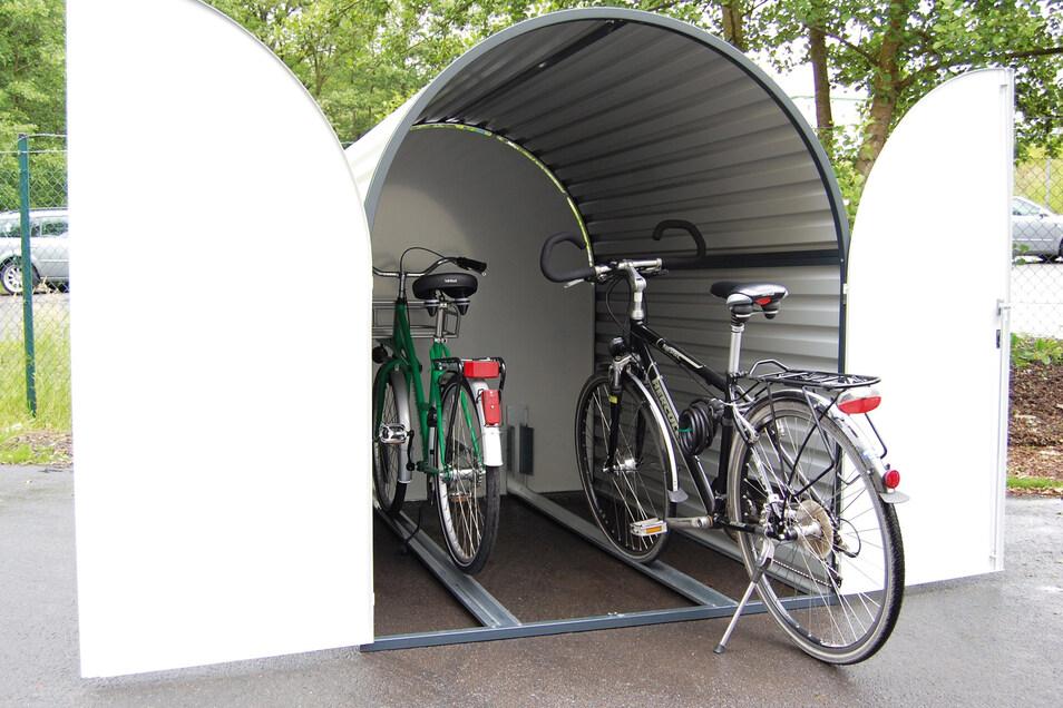 In Fahrradgaragen sind die Räder gut geschützt vor der Witterung - und vor allem vor Diebstahl.