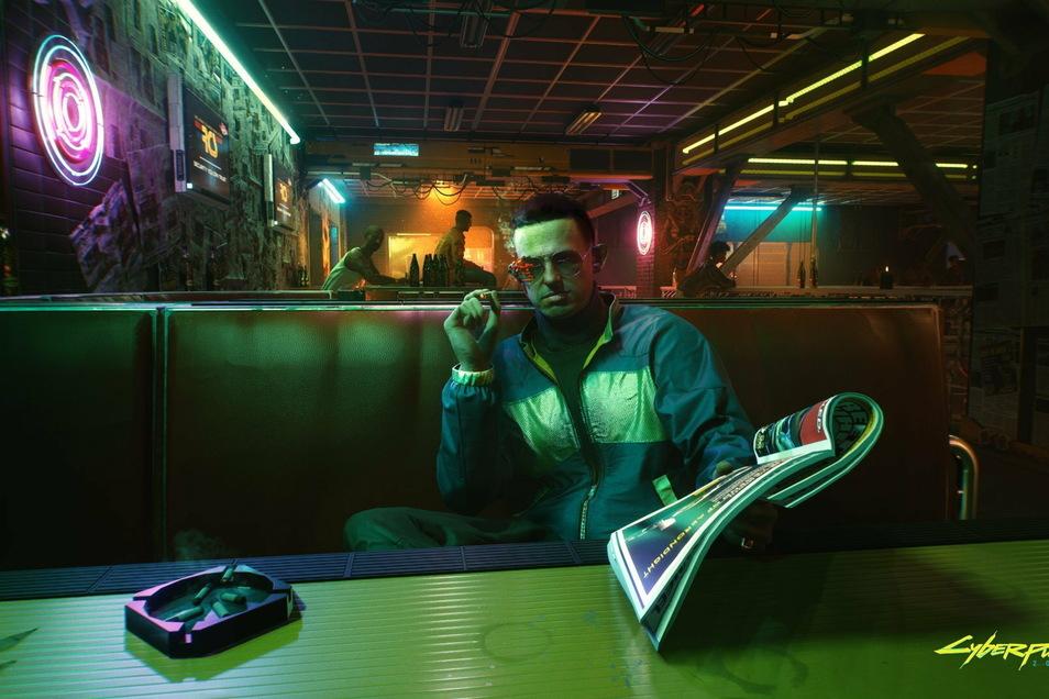 """""""Cyberpunk 2077"""" spielt in der Unterwelt von Night City - entsprechend groß ist die Zahl zwielichtiger Typen."""
