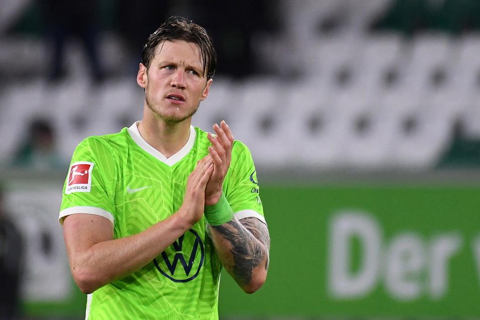 Wolfsburgs Wout Weghorst wurde positiv auf Corona getestet.