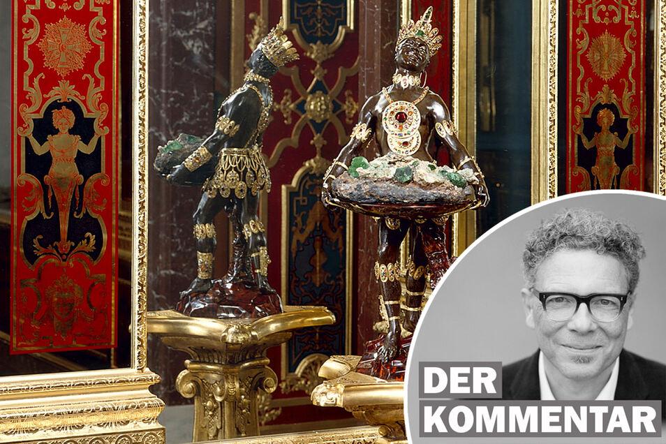 """Lange galt """"Mohr"""" nicht als diskriminierend. Heute heißt Dinglingers Skulptur in der SKD- Datenbank heute """"**** mit der Smaragdstufe"""". Oliver Reinhardt kommentiert die Debatte darum."""