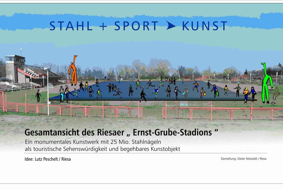 Nach der Idee von Lutz Peschelt hat Dieter Nötzoldt eine Visualisierung des Projekts geschaffen.