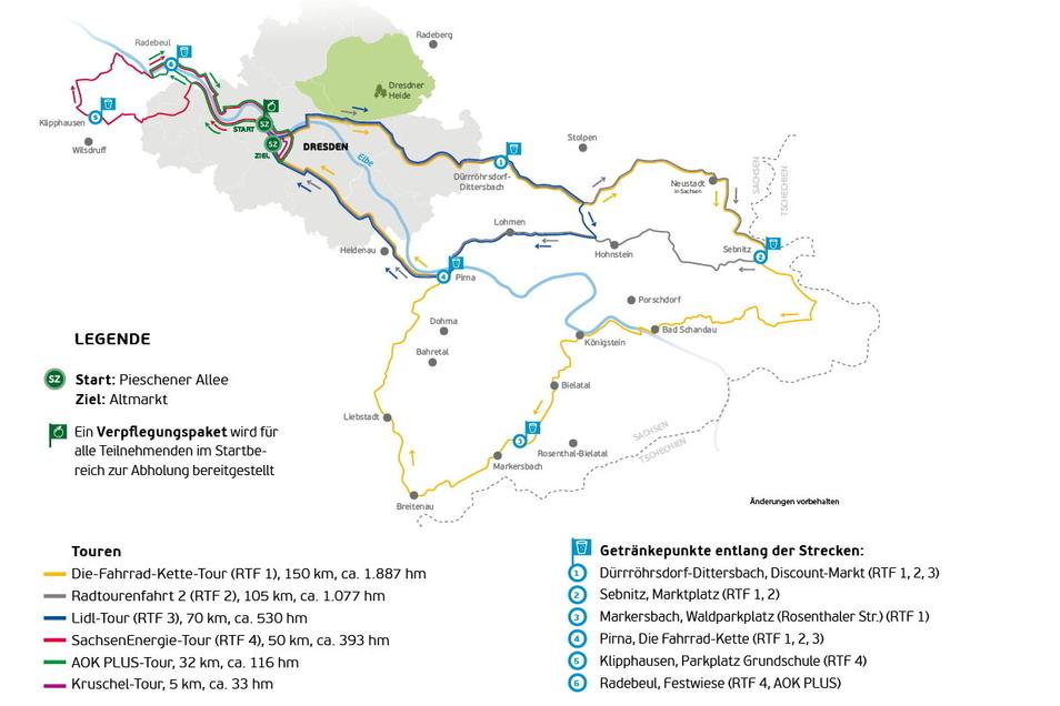 Sechs Touren stehen beim Jubiläum des SZ-Fahrradfestes zur Auswahl – für ganz verschiedene Ansprüche.