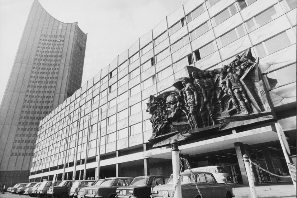 Die Universität in Leipzig im Jahre 1975.