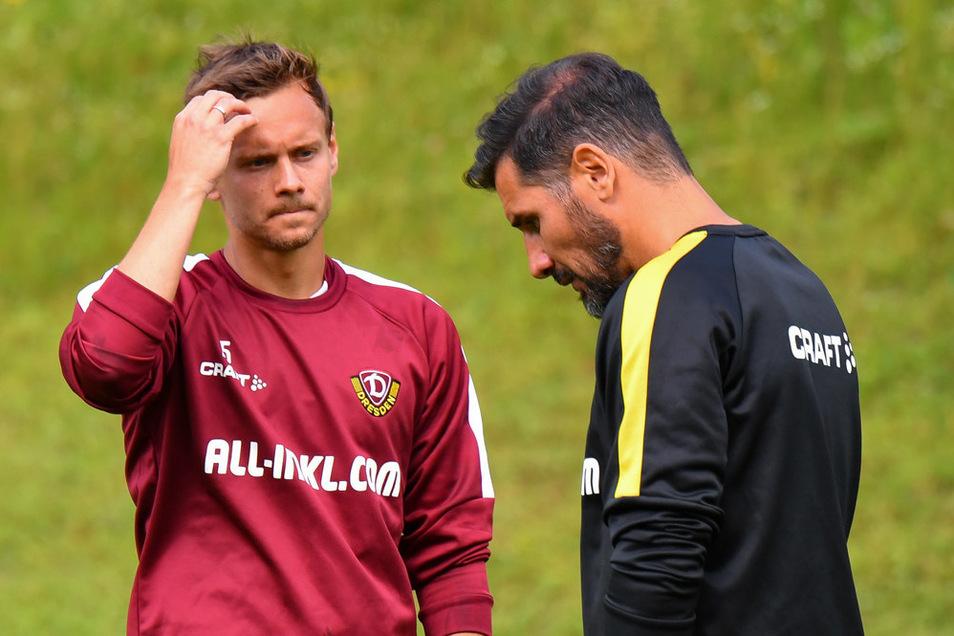 Sie hatten nicht das beste Verhältnis: Chris Löwe und Ex-Dynamo-Trainer Cristian Fiel.