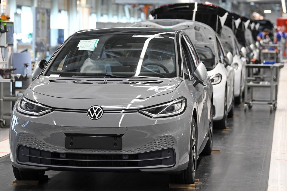 Das VW-Werk im sächsischen Zwickau: Für reine Elektro-Autos können sich die Sachsen im Bundesvergleich mit am wenigsten begeistern.
