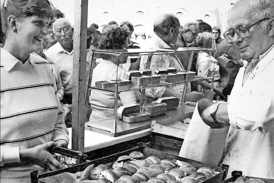 Fischsemmeln waren schon damals beliebt.