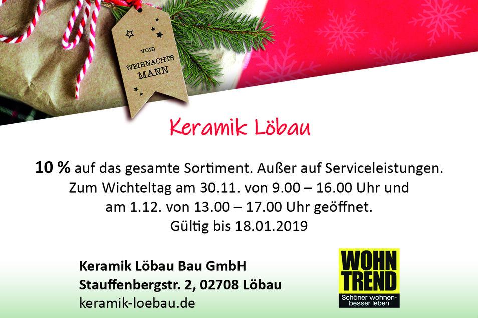 Keramik Löbau GmbH, Stauffenbergstr. 2, 02708 Löbau, keramik-loebau.de