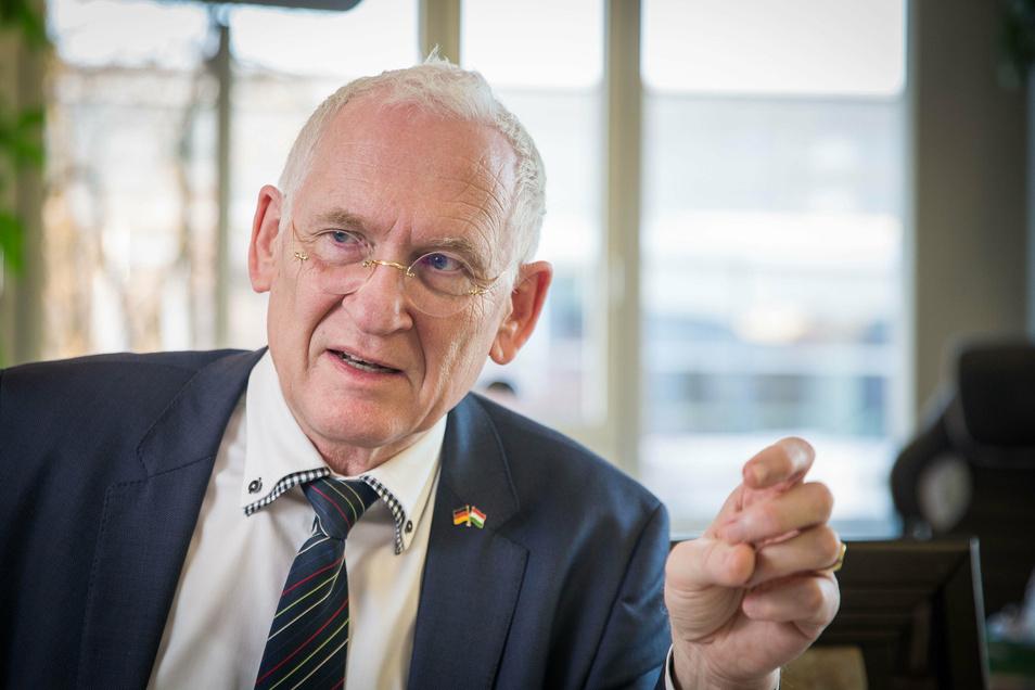 Porträt Dr. Klaus Heckemann, Chef der KV Sachsen.