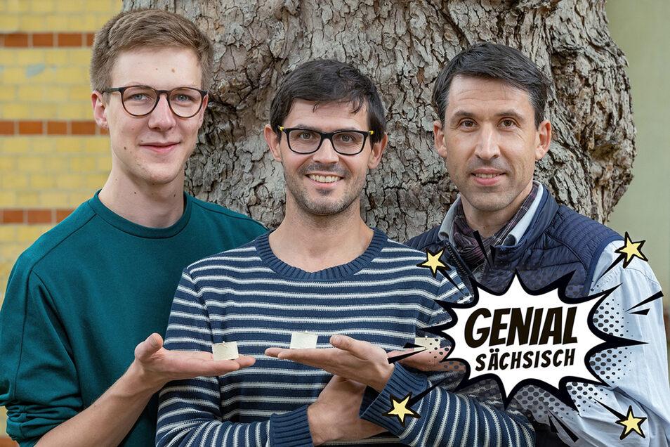 Die Macher hinter natürlich: Maschinenbauer Paul Handrick (l.), Erfinder Karsten Jahn (M.) und Produktdesigner Carol Selig.