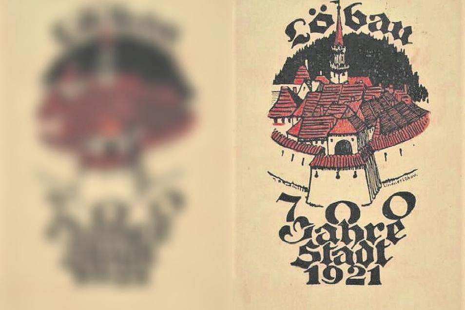 Zu Löbaus 700-Jahrfeier vor 100 Jahren wurde neben Jubiläumsmünzen auch diese Karte aufgelegt