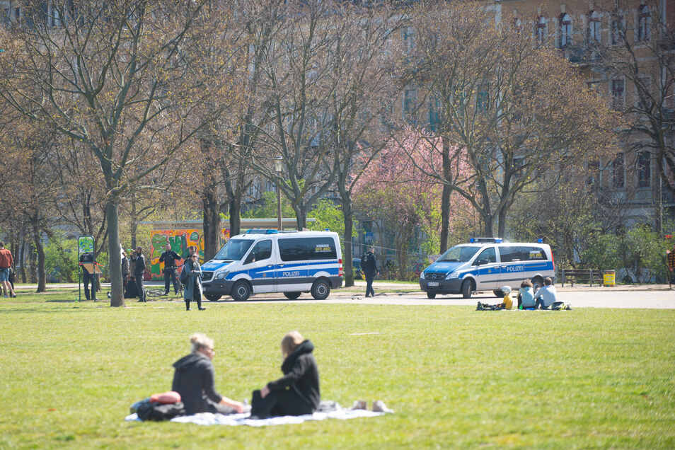 Im Alaunpark war wieder weniger los.