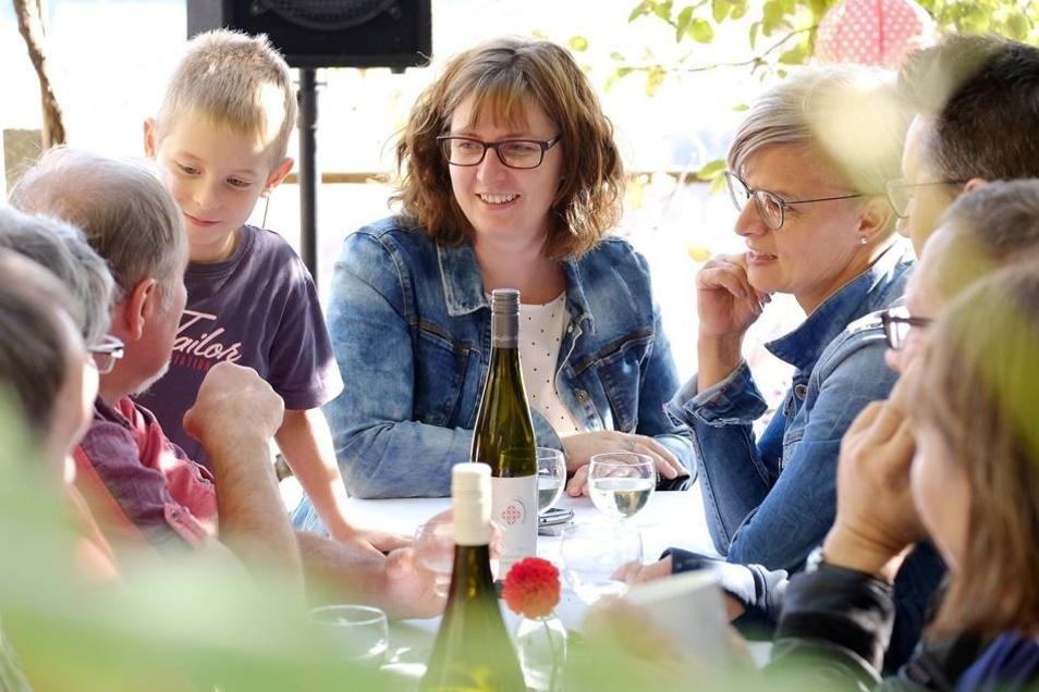Familie Nicolaus genoss das Weinfest im Weingarten am Schlossberg.