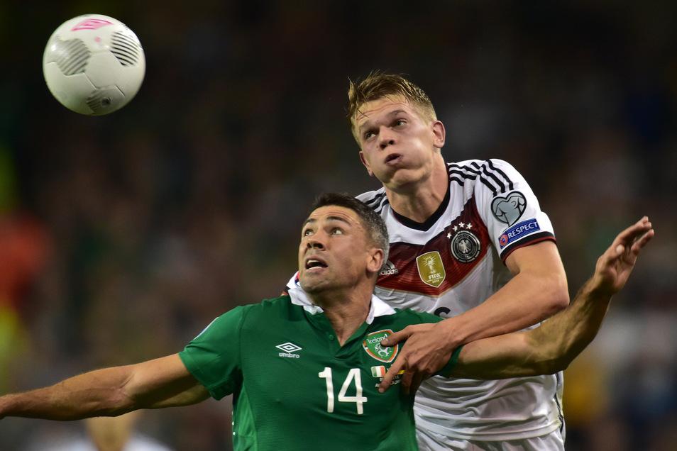 Die Zeit von Matthias Ginter (r.) kam erst nach dem WM-Titel, Er ist Teil der neuen Mannschaft und unverzichtbar bei Borussia Mönchengladbach.