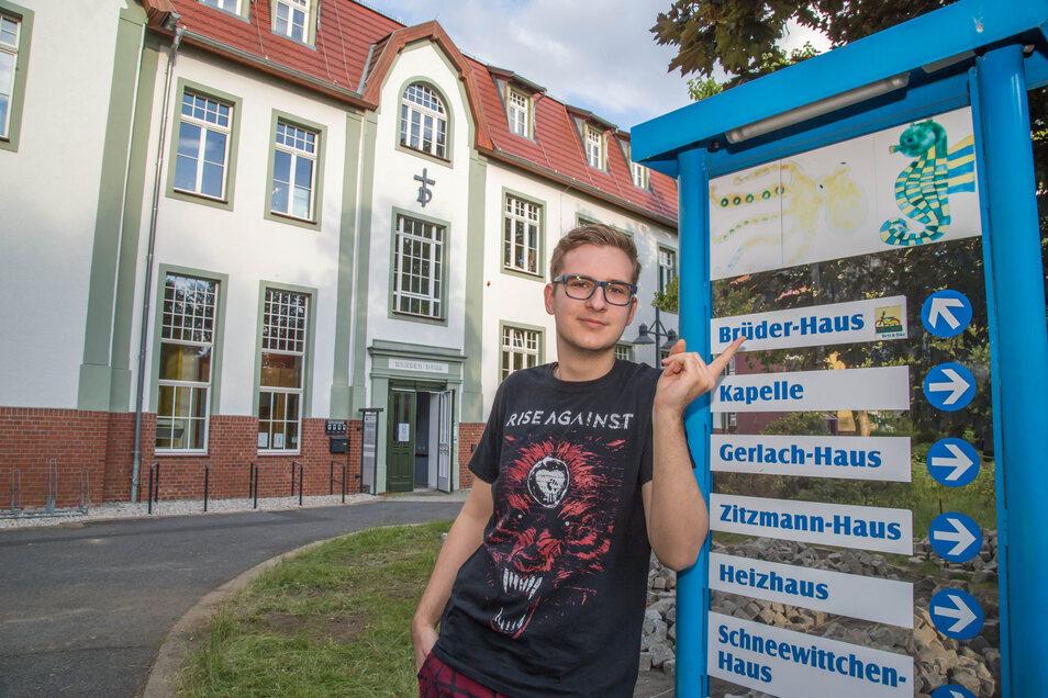 Julian Ay ist gerade 18 geworden. Im Brüderhaus des Rothenburger Martinshofes will er nun erfahren, ob der Sozialbereich beruflich etwas für ihn sein könnte.