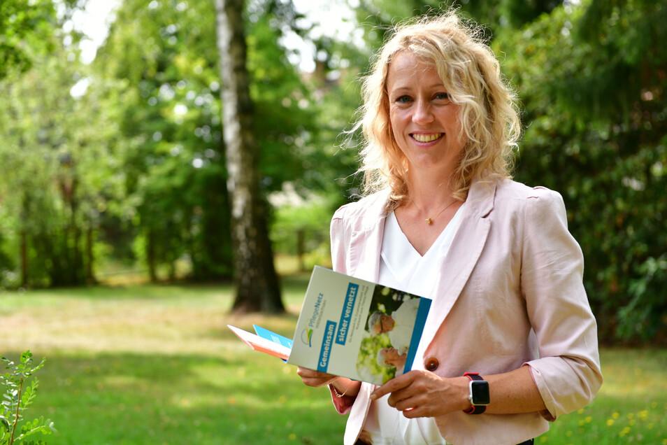 Pflegekoordinatorin Susanne Finck baut im Landkreis Mittelsachsen ein Netzwerk für die Zusammenarbeit und den Austausch rund um das Thema Pflege auf.