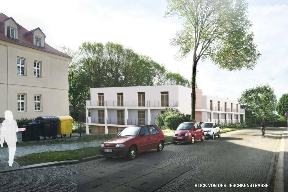 Das ist ein erster Entwurf für das neue Pflegezentrum auf der Jeschkenstraße in der Görlitzer Südstadt.