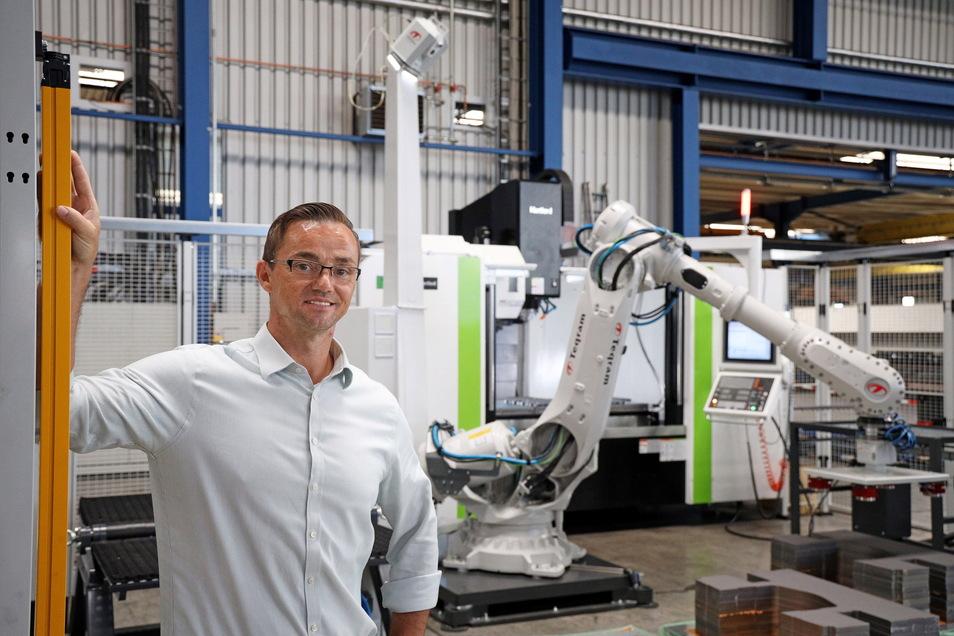 Sebastian Krybus vom Riesaer Metallspezialisten Rime ist mit dabei, wenn sich im Oktober Unternehmen aus der Region für potenzielle Bewerber präsentieren.