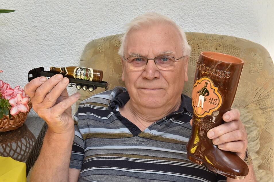 """""""Der Steiger war der Renner."""" Hans-Joachim Hartmann arbeitete als Produktionsleiter in der Brauerei Döhlen. Er gehörte zu den Entwicklern des 1984 vorgestellten Schwarzbiers, das es bis heute gibt."""