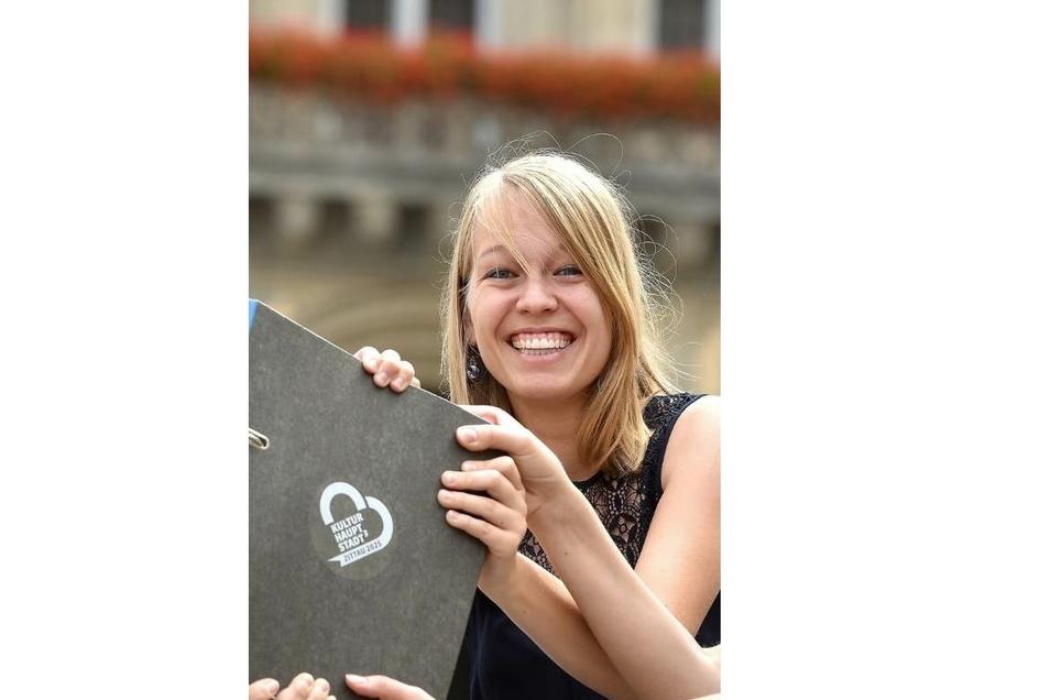 Sandra Scheel (hier während der Zittauer Kulturhauptstadt-Bewerbung im August 2019) ist die neue Leader-Ansprechpartnerin.