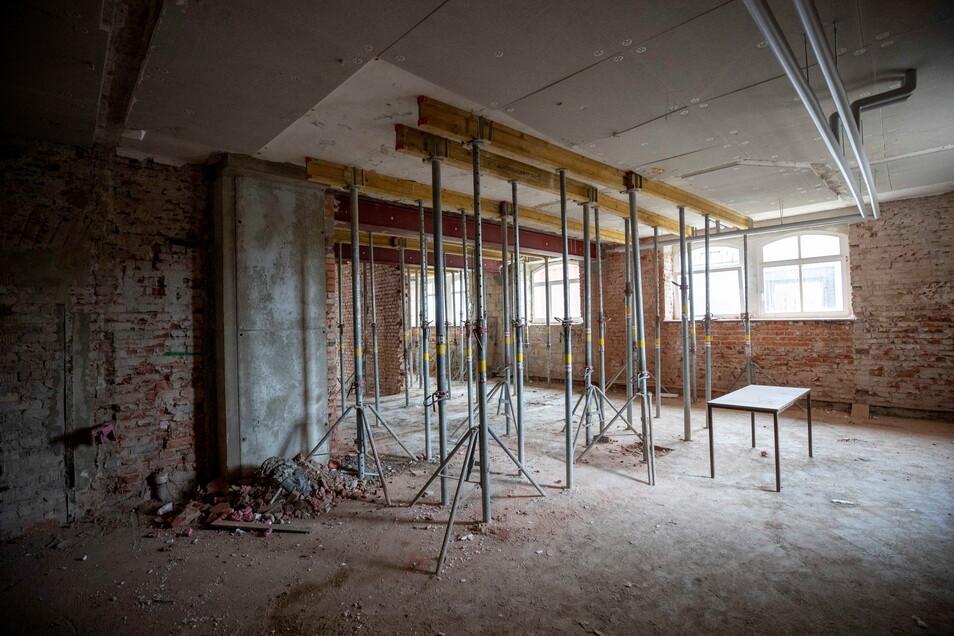 In die Kellerräume des Evangelischen Schulzentrums Pirna ziehen demnächst die Physikkabinette ein.. Das schafft Platz im Obergeschoss für den neuen gymnasialen Zweig.