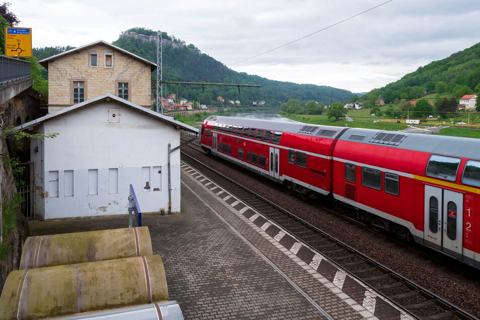 Der alte Bahnhof soll das neue Aushängeschild von Königstein werden.