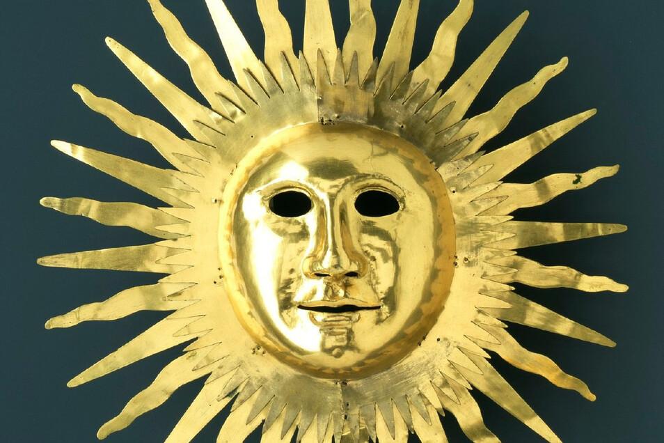 Die Sonnenmaske schuf Johann Melchior Dinglinger für August den Starken.