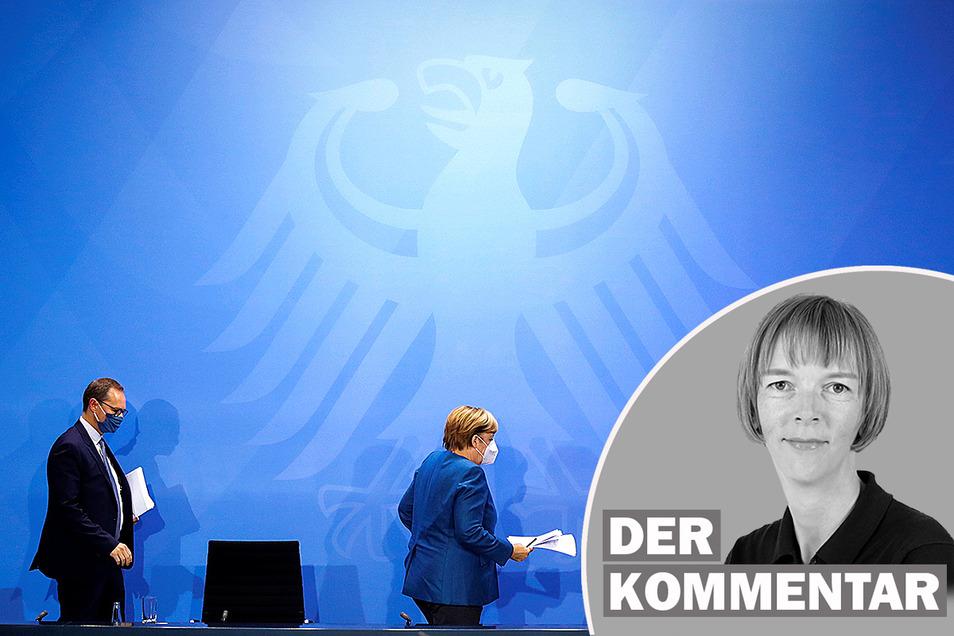 """Angela Merkel selbst bezeichnete die neuen Corona-Regeln als """"hart""""."""