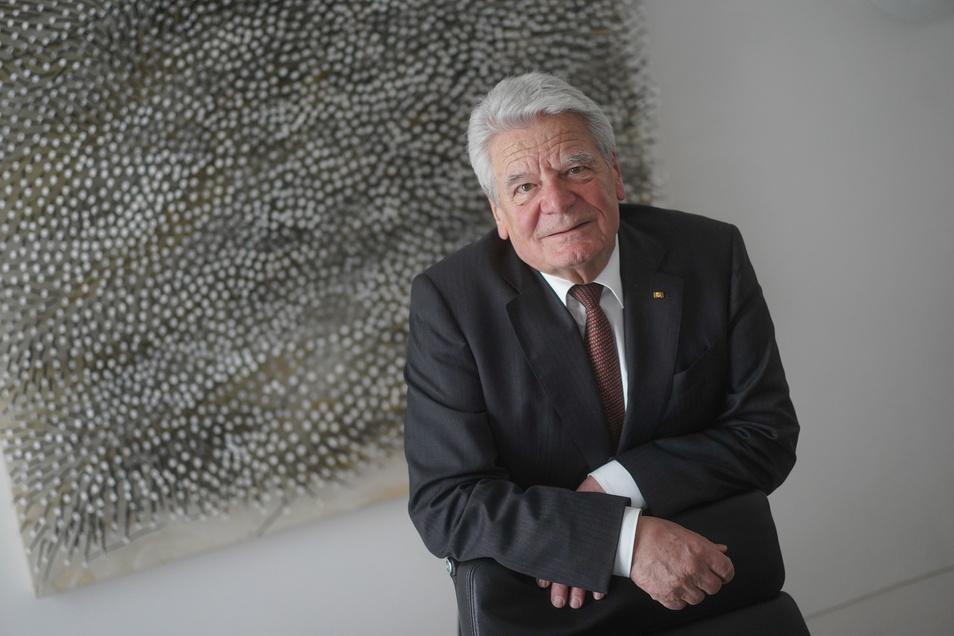 Joachim Gauck, ehemaliger Bundespräsident, bei Interviewtermin am 23. Januar.
