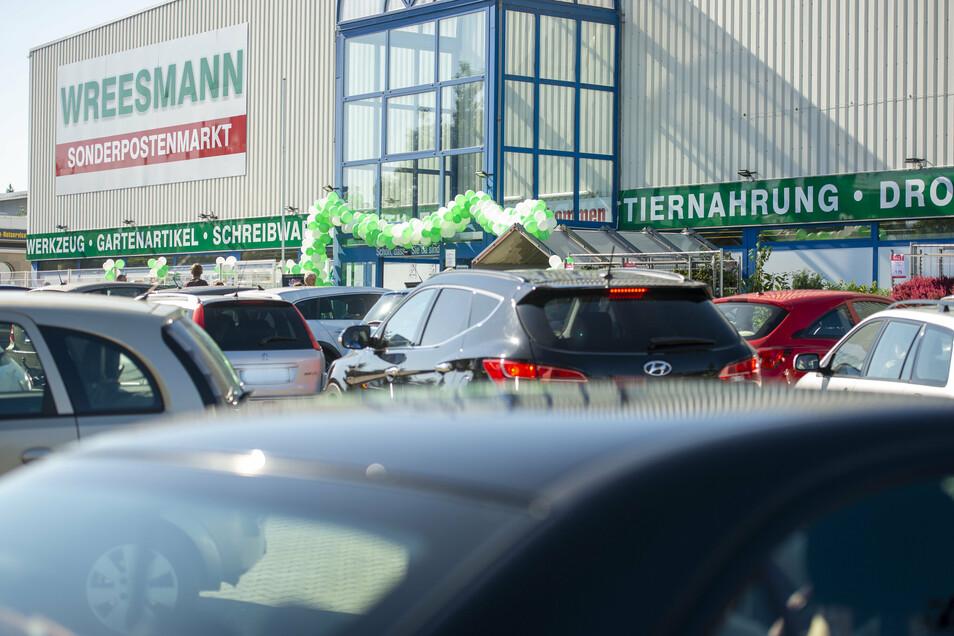 Der Sonderpostenmarkt Wreesmann auf dem Pirnaer Sonnenstein.