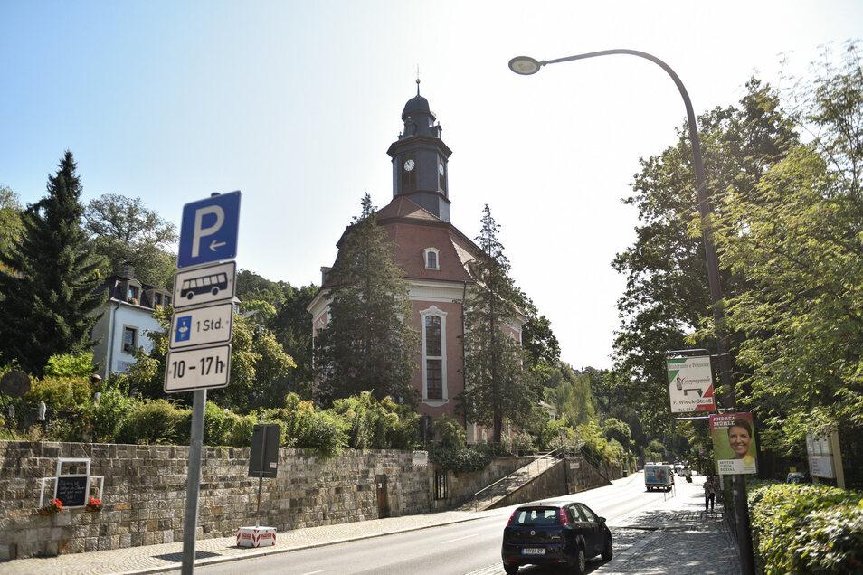 Blick auf die Loschwitzer Kirche